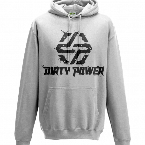 dirty power white hoody front