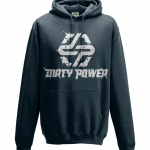 navy dirty power hoodie