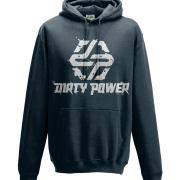 navy dirty power hoodie