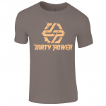 dirty power mens brown t-shirt